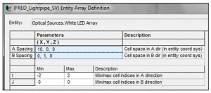 FRED LED array settings