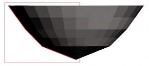 Faceted reflector profile