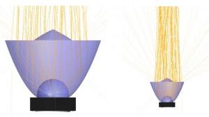 Hybrid lens raytrace