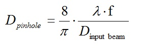 Spatial Filter equation