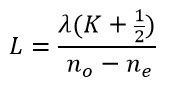 Wave plate equation